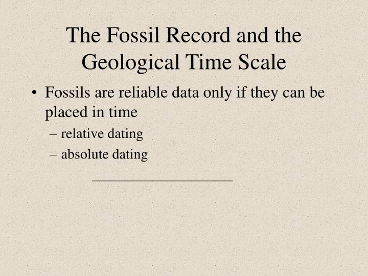 Difference between absolute and relative fossil hookup