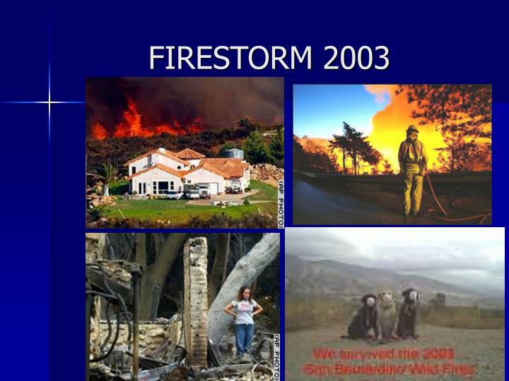 FIRESTORM 2003