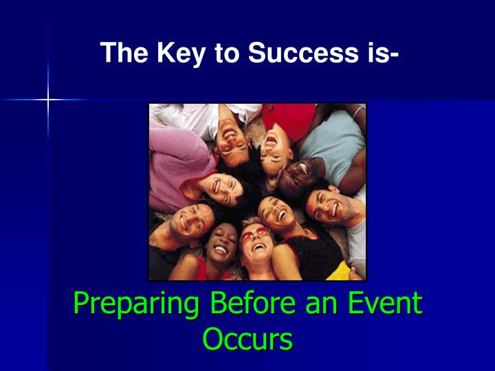 Preparing Before an Event Occurs
