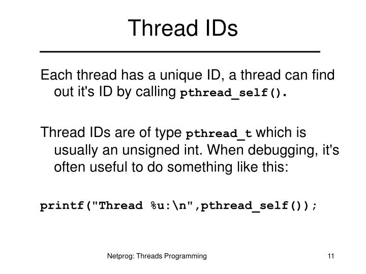 Thread IDs