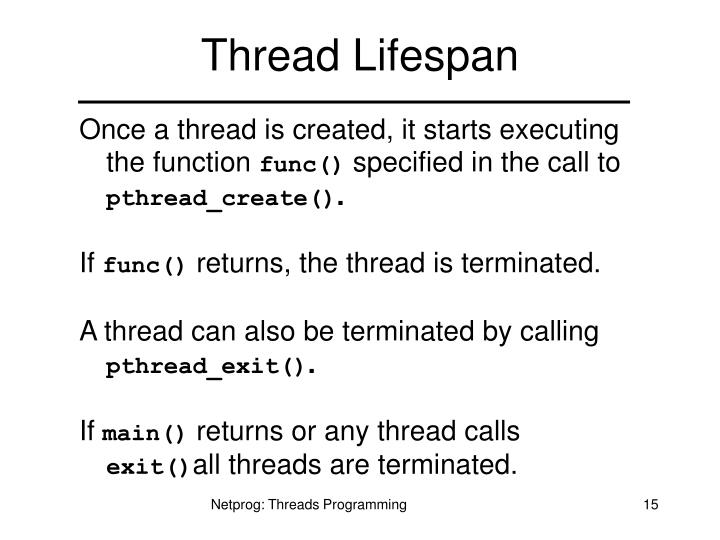 Thread Lifespan
