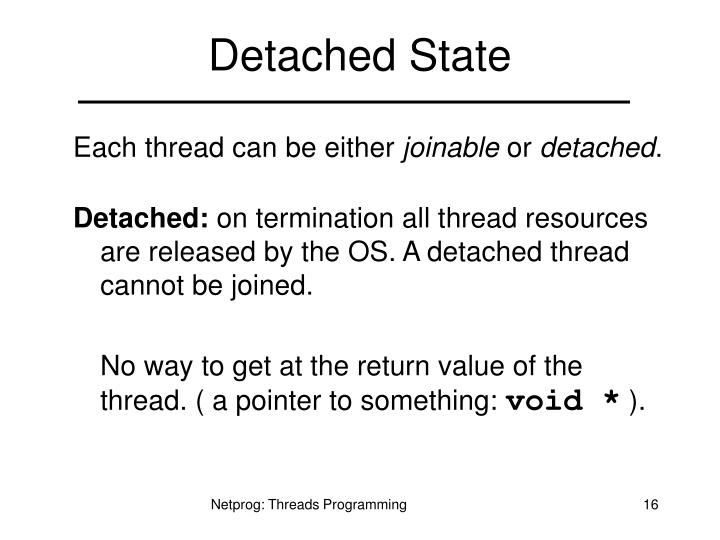 Detached State