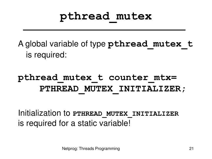 pthread_mutex