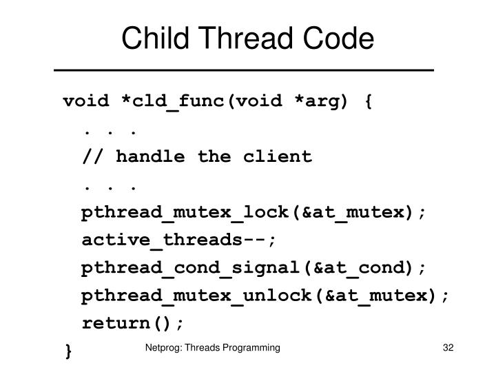 Child Thread Code