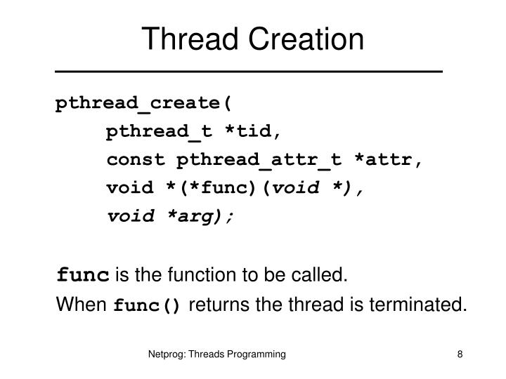 Thread Creation