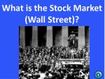 what is the stock market wall street
