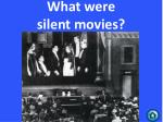 what were silent movies