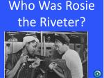 who was rosie the riveter