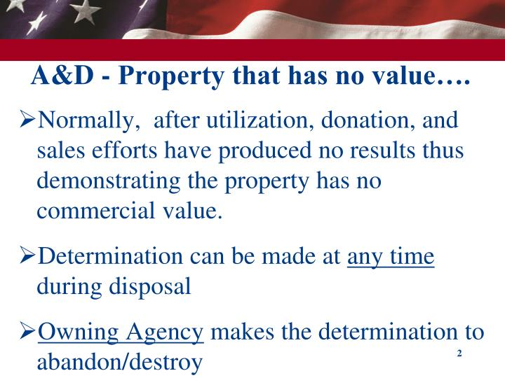 A d property that has no value