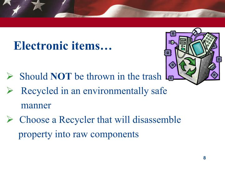 Electronic items…