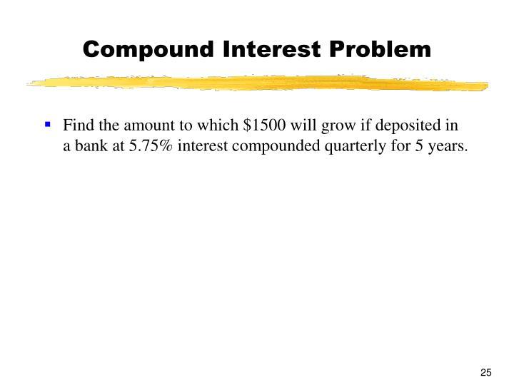 Compound Interest Problem