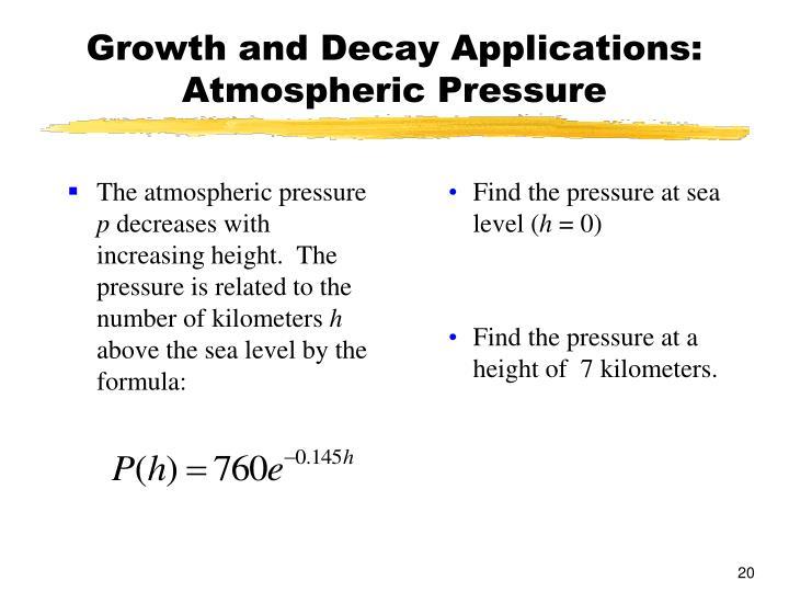 The atmospheric pressure
