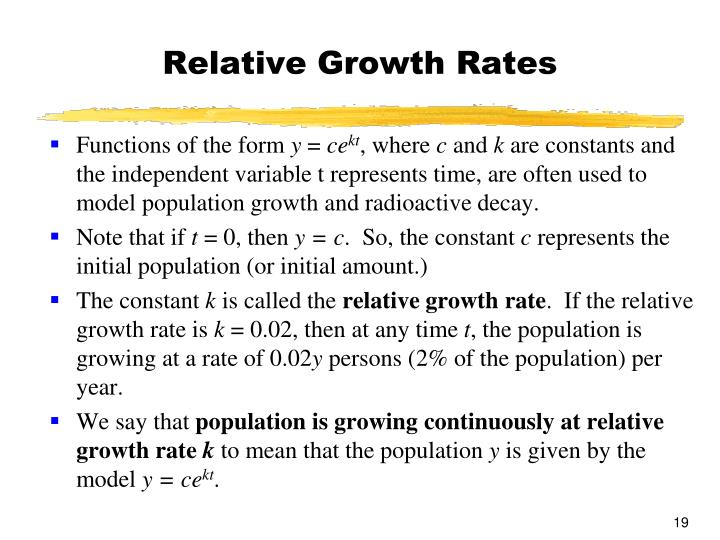 Relative Growth Rates