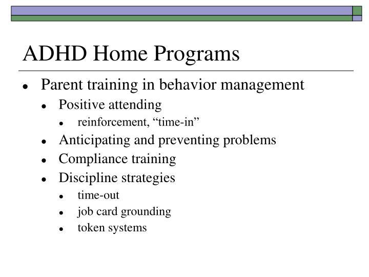 ADHD Home Programs
