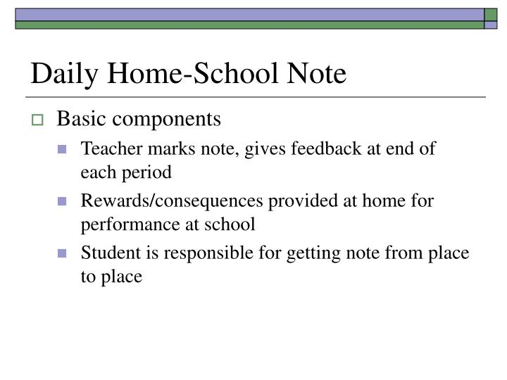 Daily Home-School Note