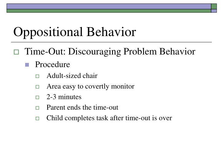 Oppositional Behavior