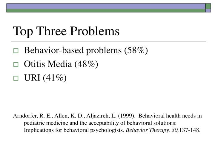 Top Three Problems