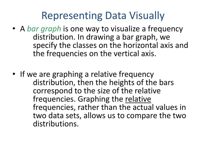 Representing Data Visually