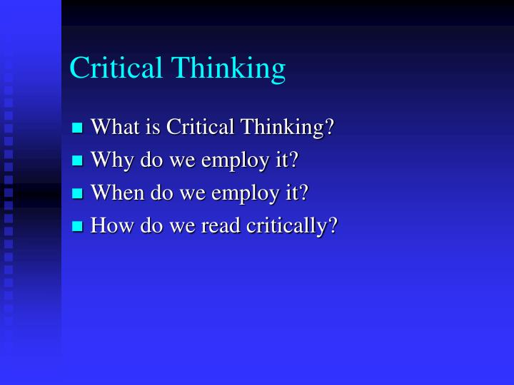 Critical Thinking Icebreakers
