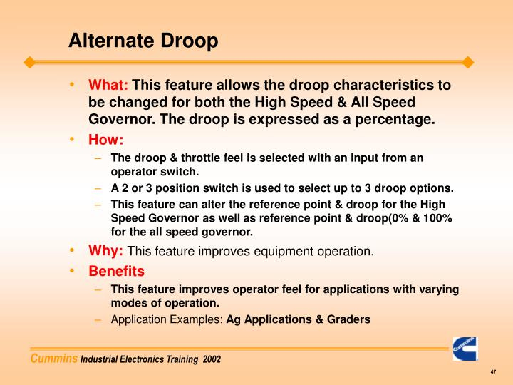 Alternate Droop