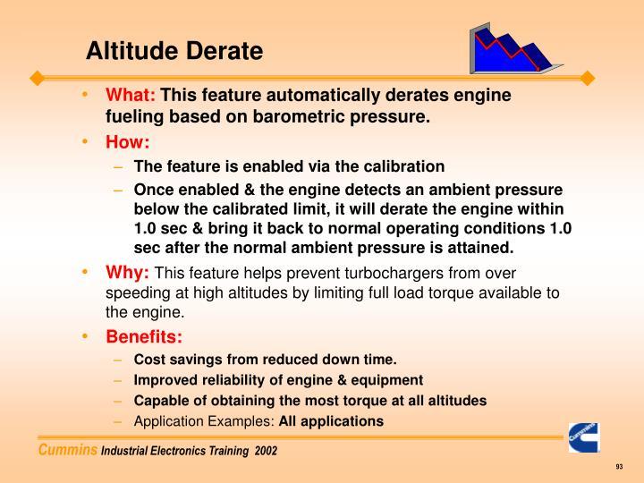 Altitude Derate