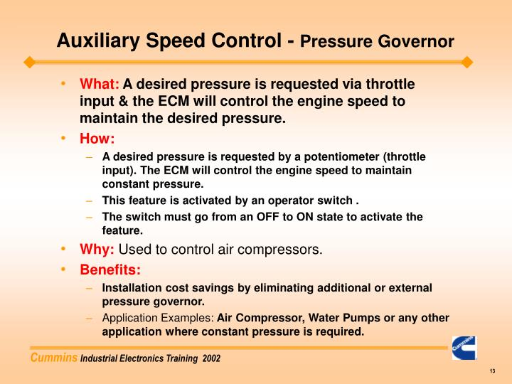 Auxiliary Speed Control -