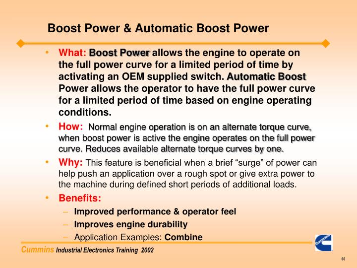 Boost Power & Automatic Boost Power