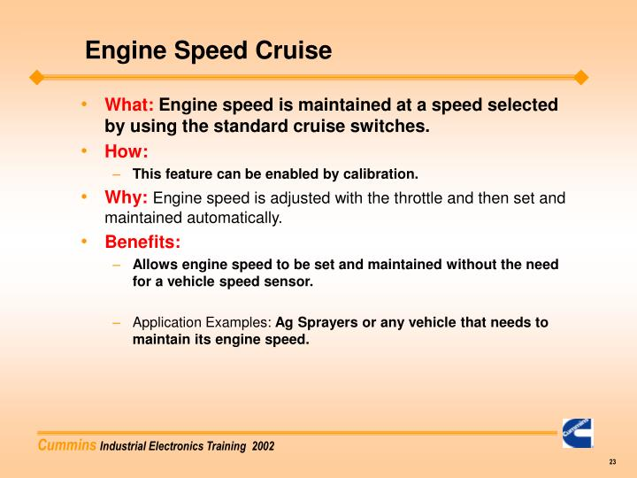 Engine Speed Cruise