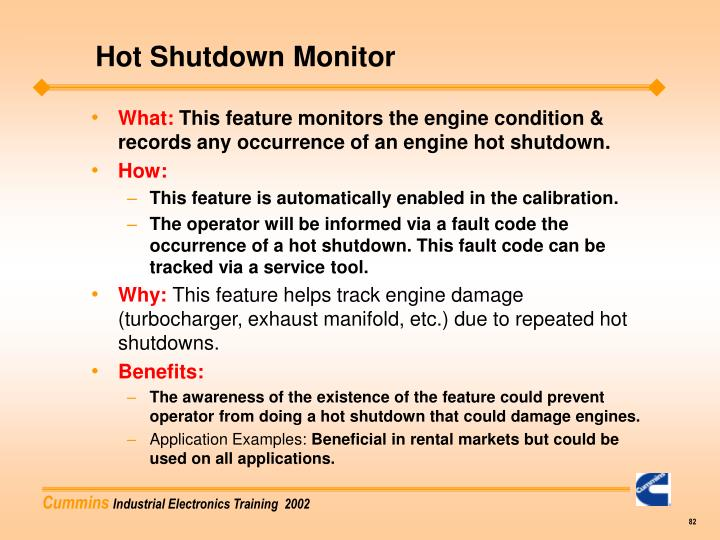 Hot Shutdown Monitor