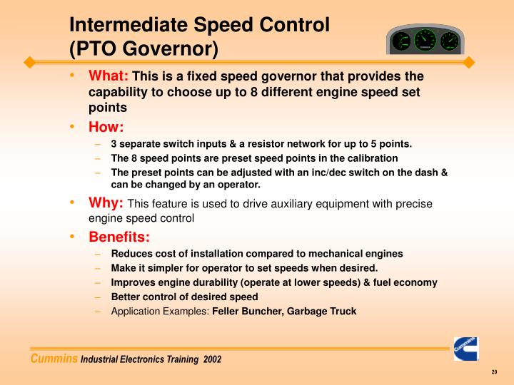 Intermediate Speed Control