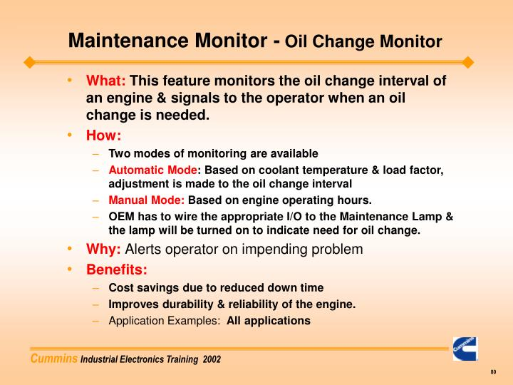 Maintenance Monitor -