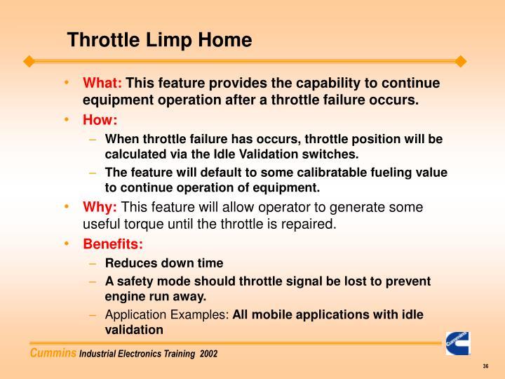 Throttle Limp Home