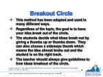 breakout circle