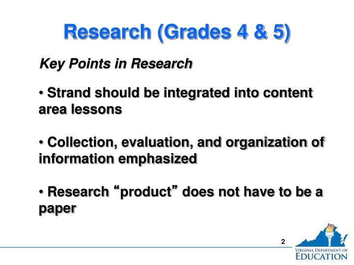 Research (Grades 4 & 5)