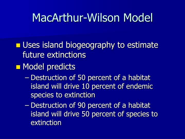 MacArthur-Wilson Model