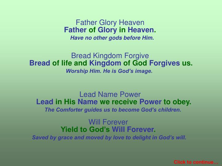 Father Glory Heaven