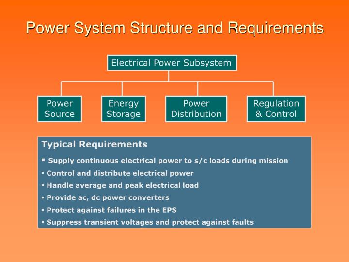 Power system structure and requirements