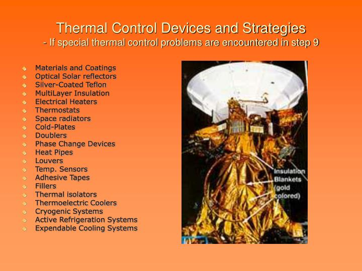 Thermal Control Devices and Strategies