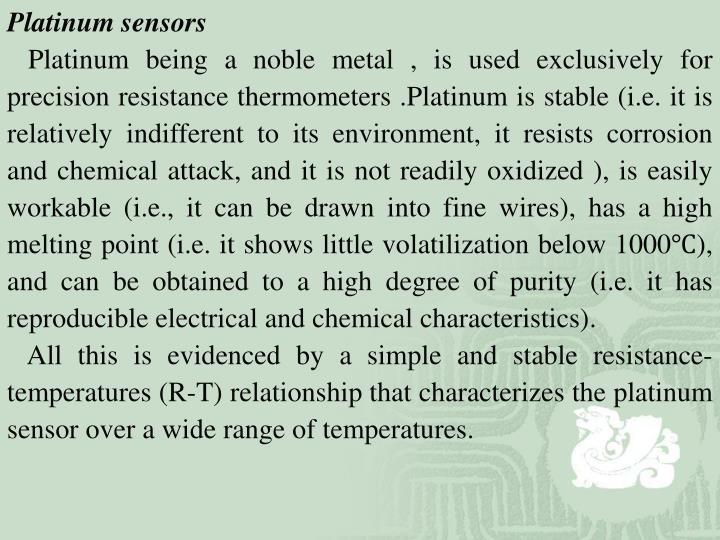 Platinum sensors