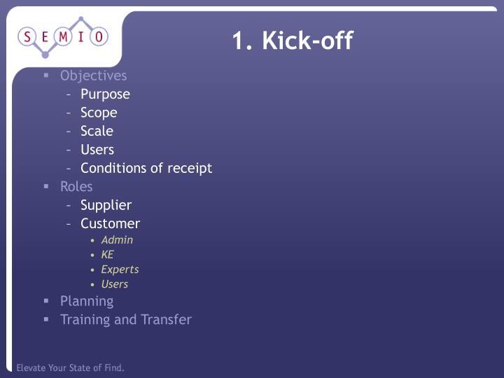 1. Kick-off
