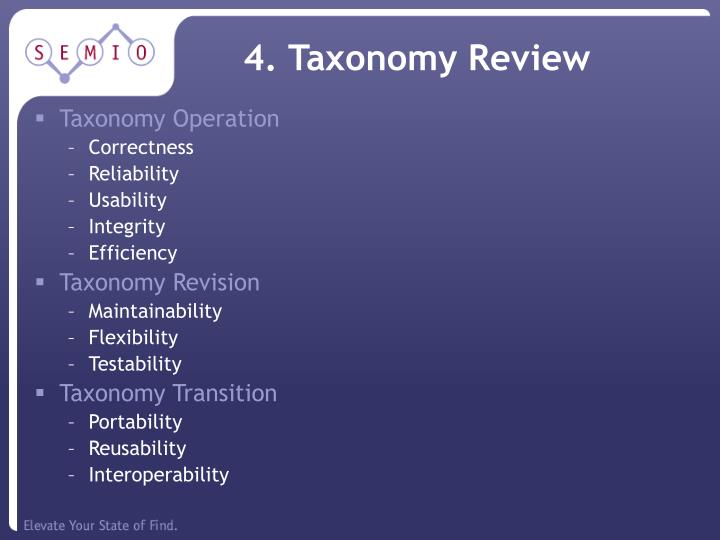 4. Taxonomy Review
