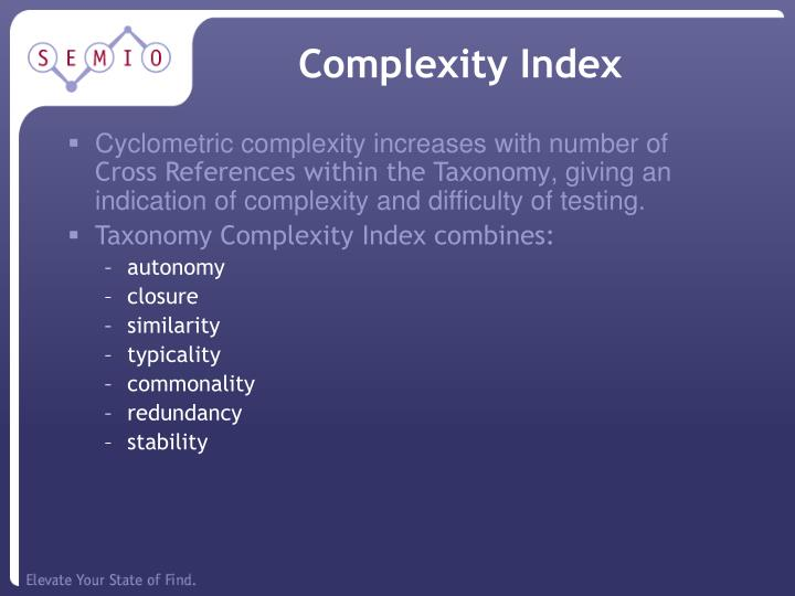 Complexity Index