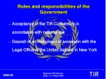 roles and responsibilities of the government