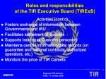 roles and responsibilities of the tir executive board tirexb2