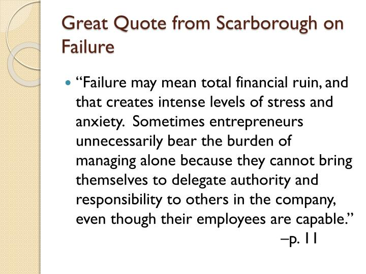 Great Quote from Scarborough on Failure