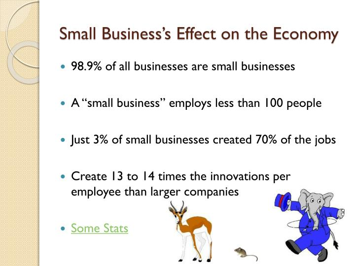 Small Business's Effect on the Economy