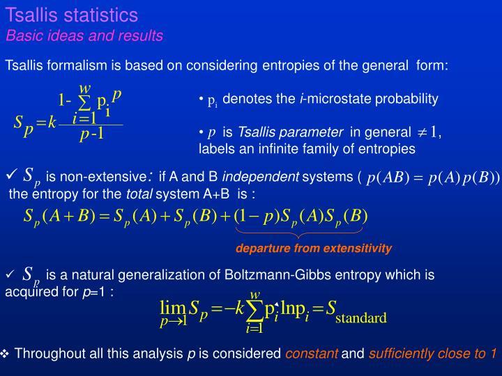 Tsallis statistics