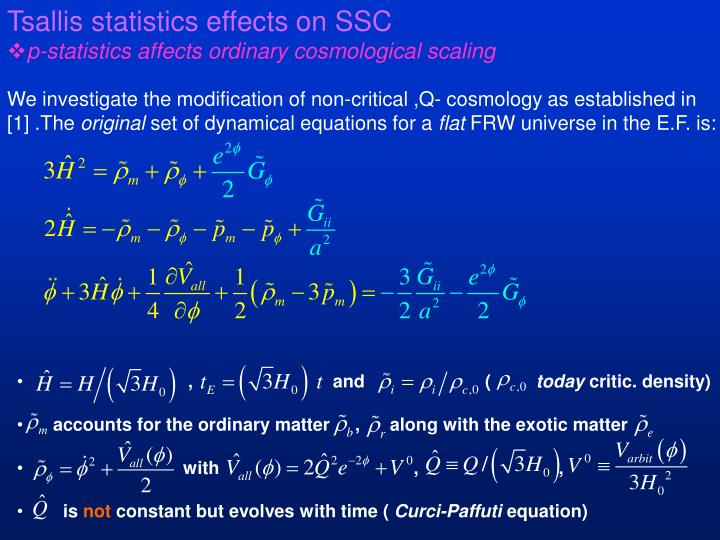 Tsallis statistics effects on SSC