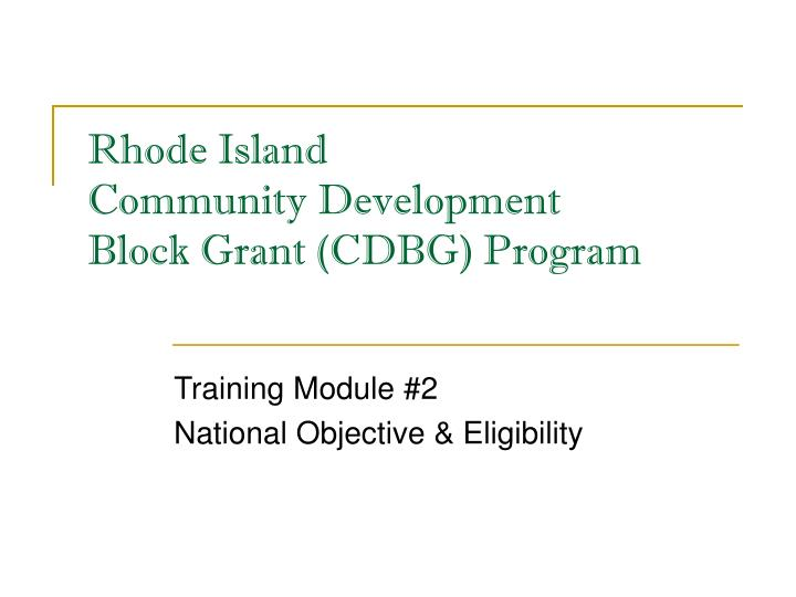 rhode island community development block grant cdbg program