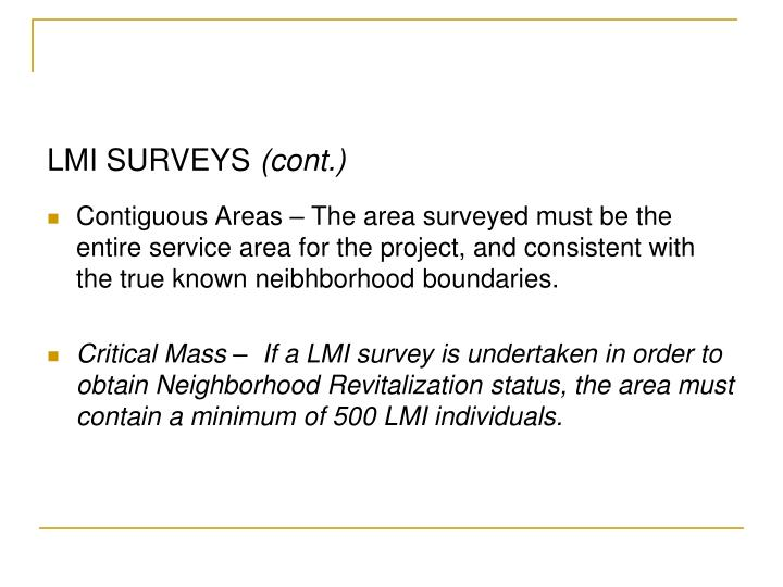 LMI SURVEYS